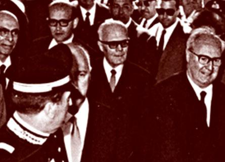 Giuseppe Saragat e Sandro Pertini nel 1966 a Rende