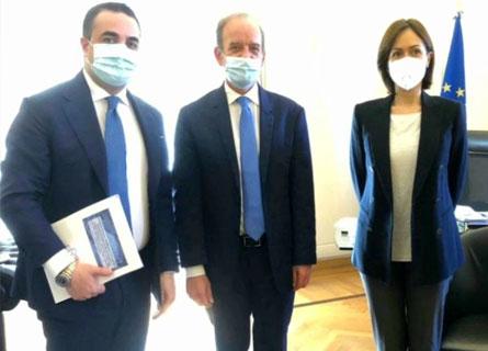 Francesco Cannizzaro, il rettore Marcello ZImbone e la ministra Mara Carfagna