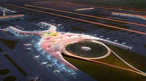 Il rendering del futuro Aeroporto dello Stretto