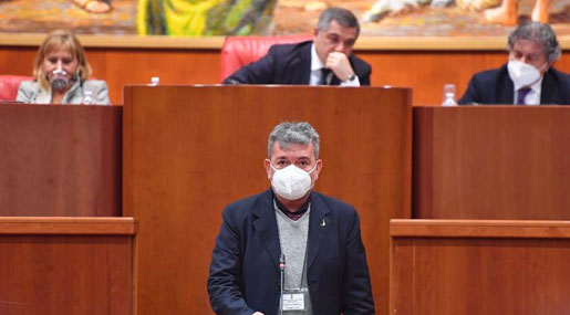 L'intervento di SPirlì in Consiglio regionale