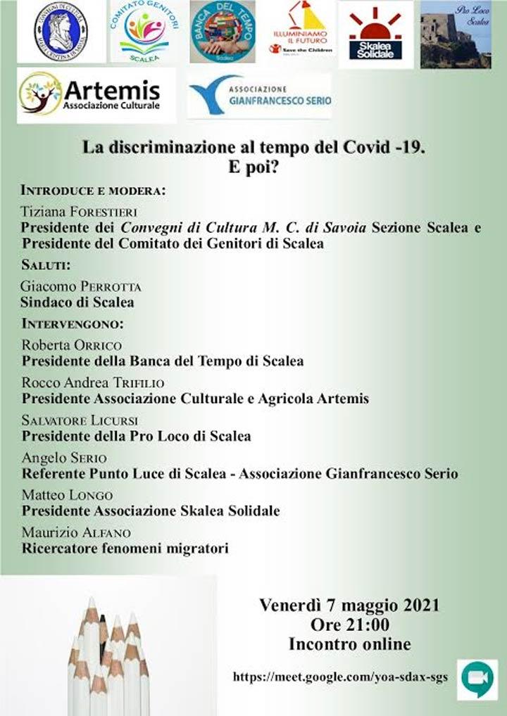 convegno su discriminazione al tempo del Covid-19