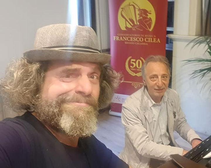 Gigi Miseferi e il M.° Sergio Puzzanghera