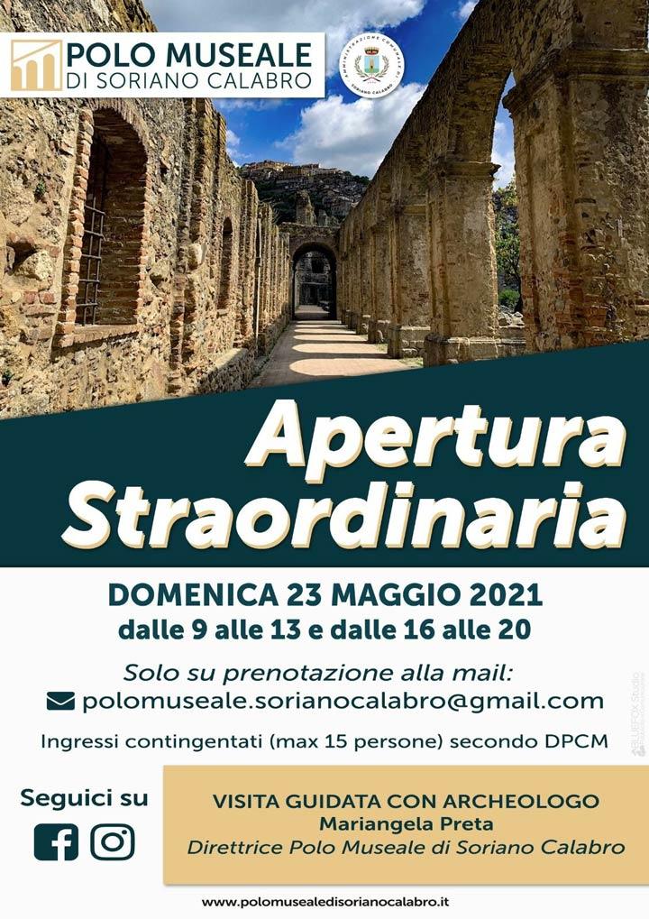 Apertura straordinaria Polo Museale di Soriano Calabro
