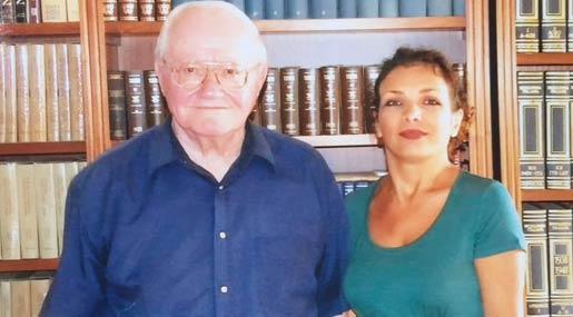 Padre Maffeo Pretto con Antonella Natale
