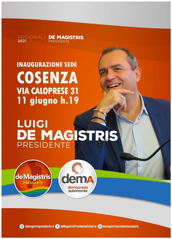 De Magistris a Cosenza