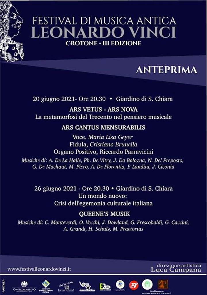 La terza edizione del Leonardo Vinci Festival