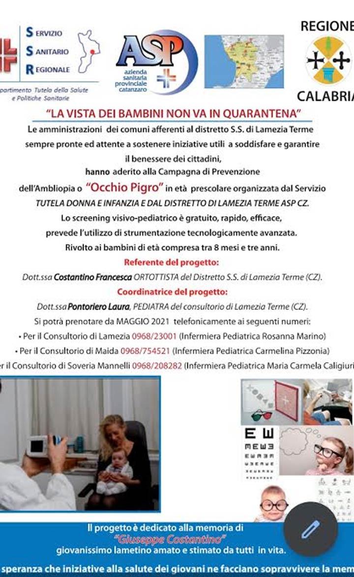 Progetto Screening Visivo Maida