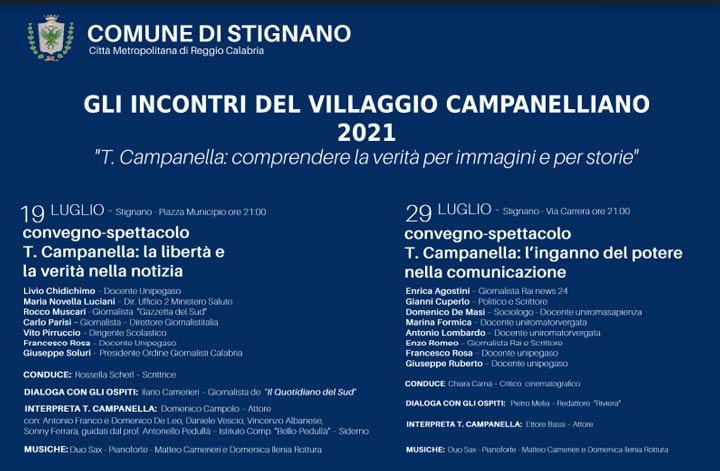 """Dal 19 luglio """"Gli incontri del Villaggio Campanelliano"""""""