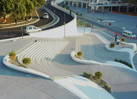 Reggio, la scalinata del Waterfront