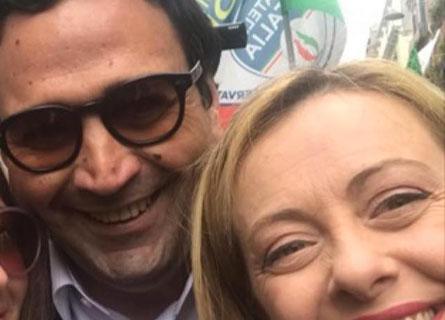 Fausto Orsomarso e Giorgia Meloni