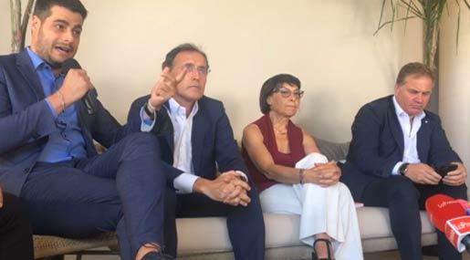 Riccardo Tucci, Francesco Boccia, Amalia Bruni e Stefano Graziano