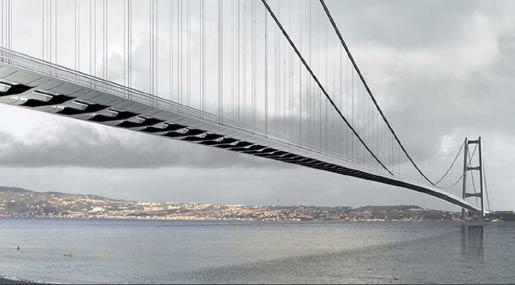 La renderizzazione del progetto del Ponte sullo Stretto
