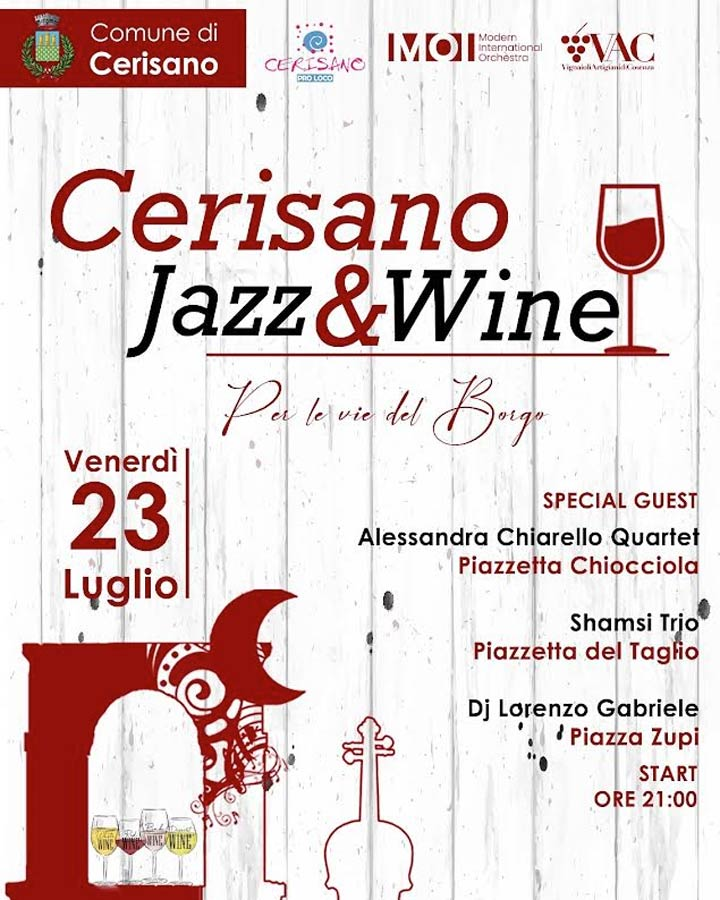 Cerisano Jazz and wine