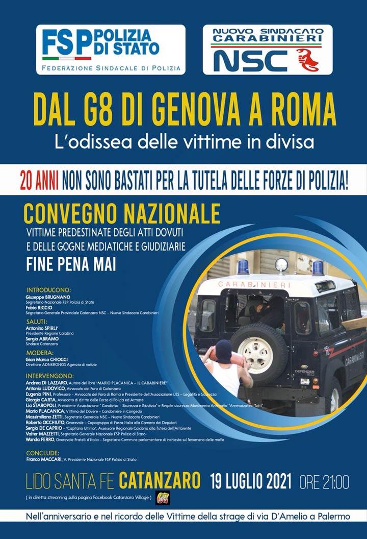 Convegno Dal G8 di Genova a Roma. L'odissea delle vittime in divisa