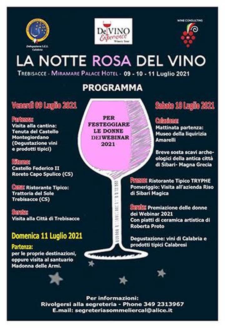 Notte rosa del vino