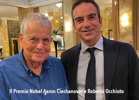 Il Premio Nobel Aaron Ciechanover e Roberto Occhiuto