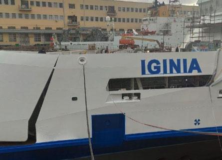 La nuova nave traghetto Iginia delle FS