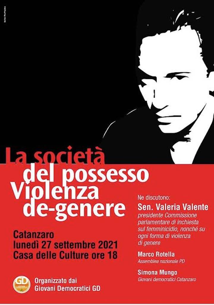 """Lunedì l'iniziativa """"La società del possesso. Violenza de-genere"""""""
