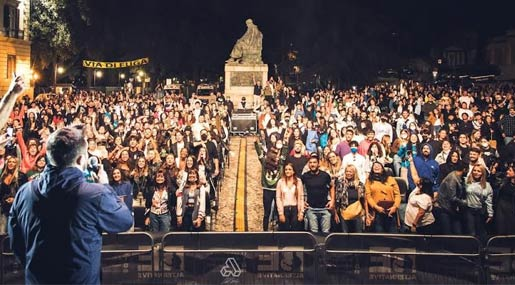 #bastaconcertiseduti flashmob Be Alternative Festival