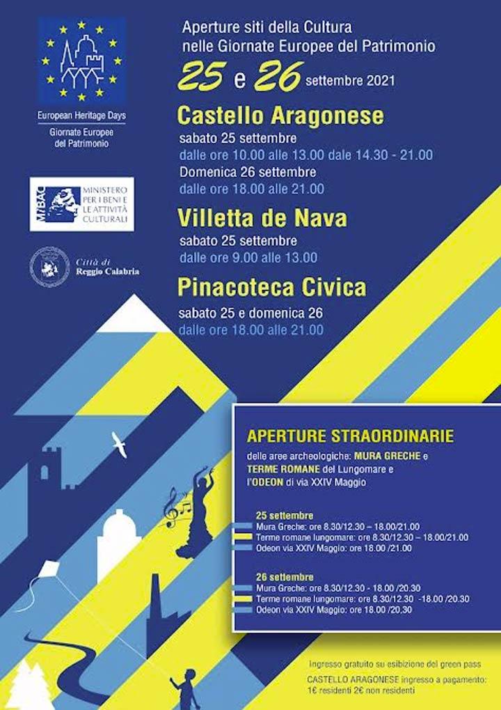 Giornate Europee del Patrimonio Reggio Calabria