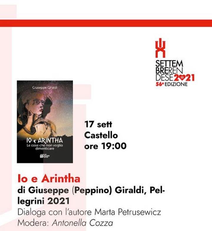 """Presentazione libro """"Io e Arintha"""""""