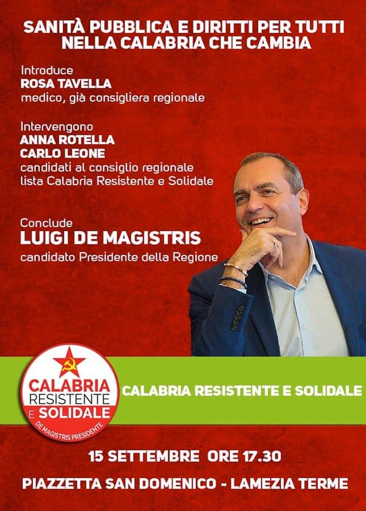 Sanità pubblica e diritti per tutti nella Calabria che cambia