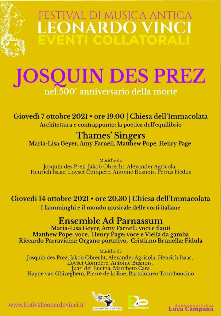 Concerti dedicati a Josquin des prez