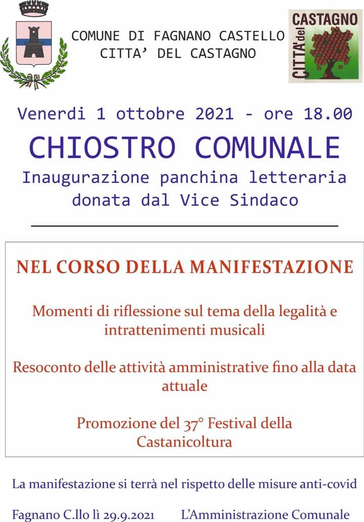 Panchina Letteraria a Fagnano Castello