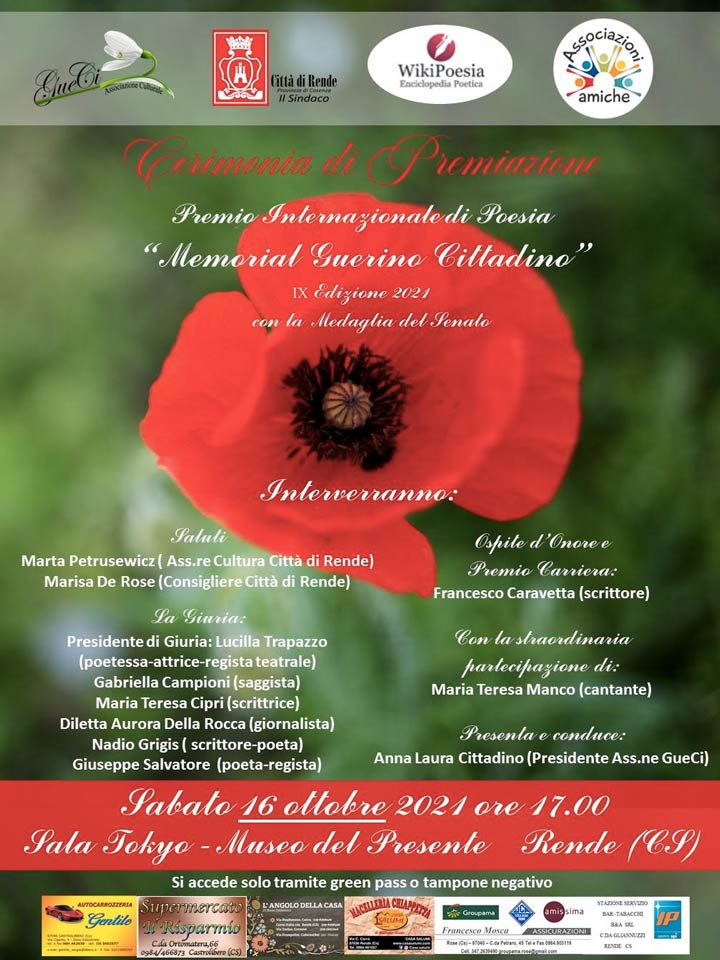 """Premio Internazionale di Poesia """"Memorial Guerino Cittadino"""""""
